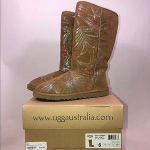 UGG Youth 6 Womens 8 Classic Tall Fancy Iridescent